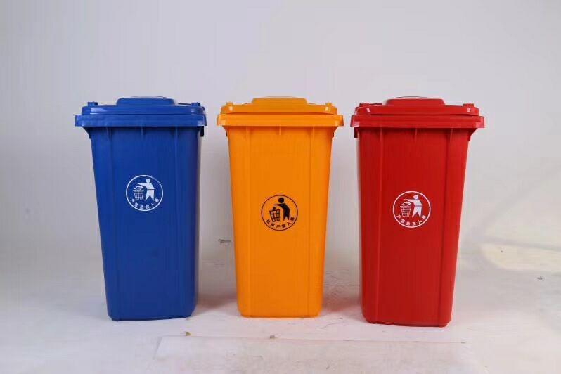 垃圾分类 你我做起:环卫塑料垃圾桶的生产